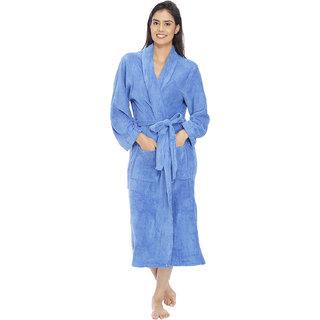 Vixenwrap French Blue Fleece Bathrobe