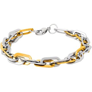Dare by Voylla Dual Plated Classy Bracelet For Men