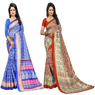Jayant Creation Multicolor Cotton Printed Saree With Blouse