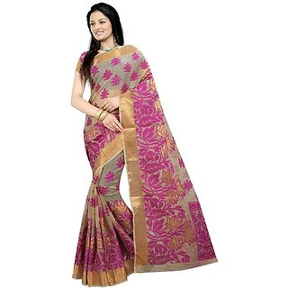 Jayant Creation Multicolor Banarasi Silk Self Design Saree With Blouse
