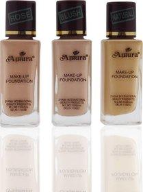 Amura Colour Cosmetics No.007 Foundation  (Shade - 3), 35 ml