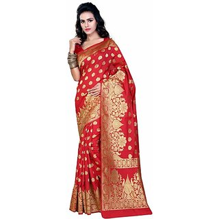 5f3fb9a25f0ba0 Buy Jayant Creation Multicolor Art Silk Embellished Saree With ...