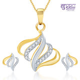 Sukkhi Classic Gold And Rhodium Plated CZ Pendant Set (130PS750)