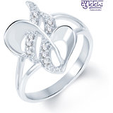 Sukkhi Moddish Rodium Plated CZ Studded Ring (229R310)
