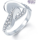 Sukkhi Sublime Rodium Plated CZ Studded Ring (236R440)