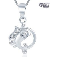 Sukkhi Silver Plated  Silver Pendants Chains For Women