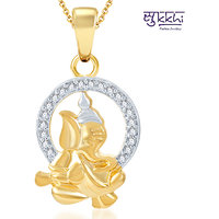 Sukkhi Stylish Gold and Rhodium Plated CZ God Pendant (111GP440)