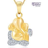Sukkhi Delightful Gold and Rhodium Plated CZ God Pendant (117GP550)