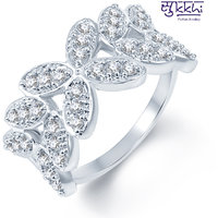 Sukkhi Fine Design Rodium Plated CZ Studded Ring (188R800)