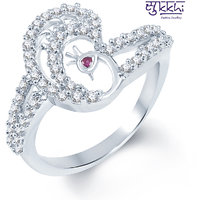 Sukkhi Pretty Rodium Plated CZ Studded Ring (189R740)