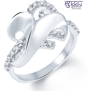 Sukkhi Marvellous Rodium plated CZ Studded Ring (197R500)