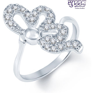 Sukkhi Incredible Rodium plated CZ Studded Ring (220R400)