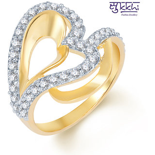 Sukkhi Intricately Crafted Gold and Rhodium Plated CZ Ring (249R600)