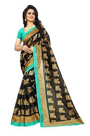 Jayant Creation Multicolor Art Silk Floral Saree With Blouse