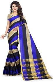 Jayant Creation Multicolor Cotton Self Design Saree With Blouse