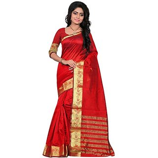 Jayant Creation Multicolor Art Silk Embellished Saree With Blouse