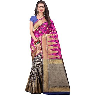 0d610a43a3 Buy Jayant Creation Multicolor Banarasi Silk Self Design Saree With ...