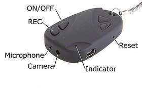 Safety Car Key-808 Chain Hidden Camera HD Video Recorder 8 gb support