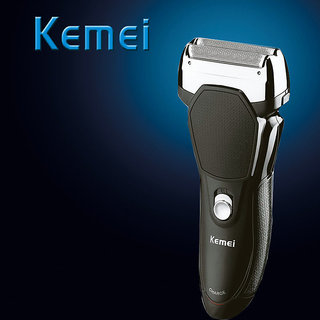 Kemei KM-6538 Rechargeable Double Bladed Beard Trimmer Shaver for Men