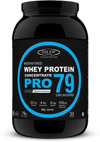 Sinew Nutrition Raw Whey Protein Concentrate Pro 79%, 1