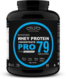 Sinew Nutrition Raw Whey Protein Concentrate Pro 79, 2Kg (Unflavoured)