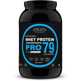 Sinew Nutrition Raw Whey Protein Concentrate Pro 79, 1Kg (Unflavoured)
