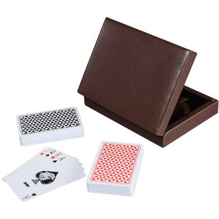 Cerasus Card Box with High Gloss Finish (Brown PU)