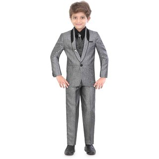 Jeet Grey  Coat Suit for Boys