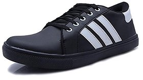 Falak Creation Men's Canvas Casual Shoes black