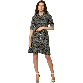Miss Chase Womens Black Multicolor Shirt