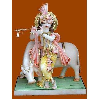 shoppingtara marble  krishna murti white