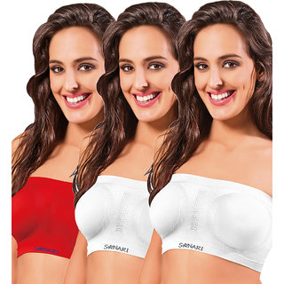 Sonari Bloom Women's  Tube Bra Pack of 3
