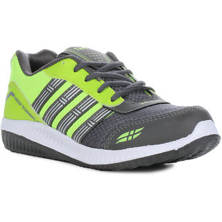Columbus-Runner-DGreyPGreen Mens Sports Shoes