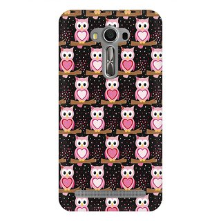 Mobicture Owl Pattern Premium Printed High Quality Polycarbonate Hard Back Case Cover For Asus Zenfone 2 Laser ZE550KL With Edge To Edge Printing