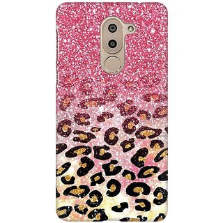 Mobicture Cheetah Pattern GLitter Fusion Premium Printed High Quality Polycarbonate Hard Back Case Cover For Huawei Honor 6X With Edge To Edge Printing