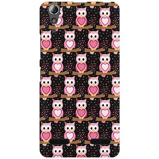 Mobicture Owl Pattern Premium Printed High Quality Polycarbonate Hard Back Case Cover For Lenovo A6000 Plus With Edge To Edge Printing