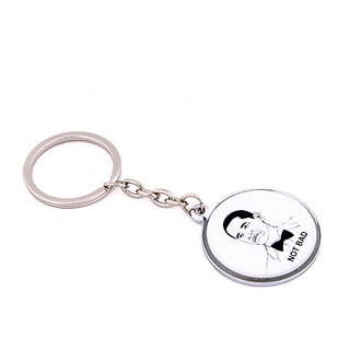 Daffodils Troll Not Bad Face Key Chain (White, Black) KC13