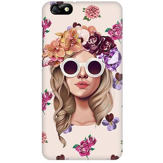 Mobicture Floral Girl Premium Printed High Quality Polycarbonate Hard Back Case Cover For Huawei Honor 4X With Edge To Edge Printing