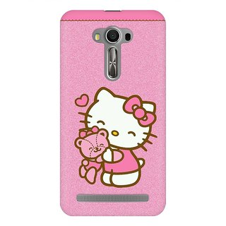 Mobicture Pink Cute Kitten Cat Premium Printed High Quality Polycarbonate Hard Back Case Cover For Asus Zenfone Selfie With Edge To Edge Printing