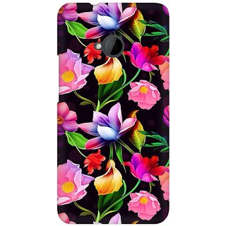 Mobicture Flower Abstract Premium Printed High Quality Polycarbonate Hard Back Case Cover For HTC One M7 With Edge To Edge Printing