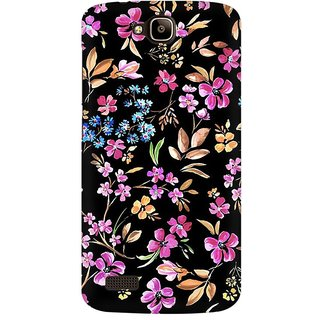 Mobicture Colorful Leafs Premium Printed High Quality Polycarbonate Hard Back Case Cover For Huawei Honor Holly With Edge To Edge Printing