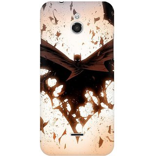 Mobicture Dark Knight Premium Printed High Quality Polycarbonate Hard Back Case Cover For InFocus M2 With Edge To Edge Printing