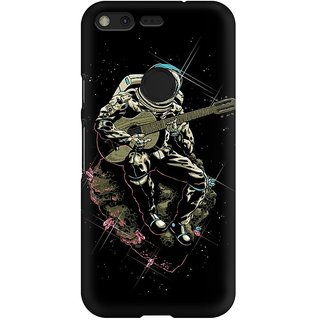 Mobicture Astronaut Singer Premium Printed High Quality Polycarbonate Hard Back Case Cover For Google Pixel With Edge To Edge Printing