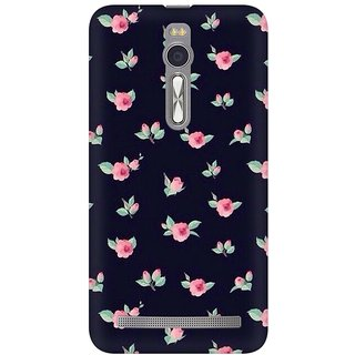 Mobicture Rose Pattern Premium Printed High Quality Polycarbonate Hard Back Case Cover For Asus Zenfone 2 With Edge To Edge Printing