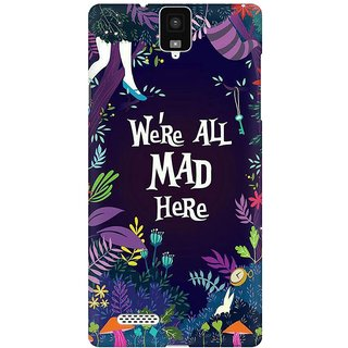 Mobicture We Are All Mad Here Premium Printed High Quality Polycarbonate Hard Back Case Cover For InFocus M330 With Edge To Edge Printing