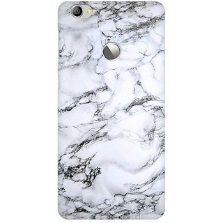 Mobicture White Black Marble Premium Printed High Quality Polycarbonate Hard Back Case Cover For LeEco Le 1s With Edge To Edge Printing