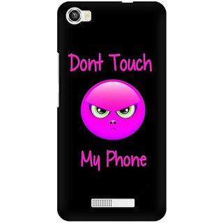 Mobicture Don'T Touch My Phone Premium Printed High Quality Polycarbonate Hard Back Case Cover For Lava Iris X8 With Edge To Edge Printing