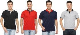 Rico Sordi Men's pack of 4 striped polo t-shirt