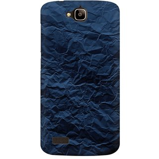 Mobicture Crumpled Paper Premium Printed High Quality Polycarbonate Hard Back Case Cover For Huawei Honor Holly With Edge To Edge Printing