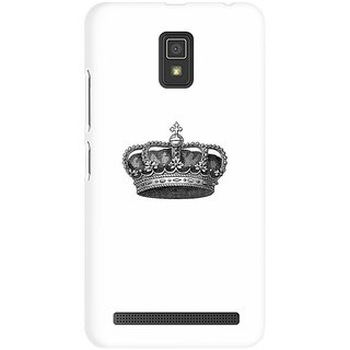 Mobicture The Crown Premium Printed High Quality Polycarbonate Hard Back Case Cover For Lenovo A6600 With Edge To Edge Printing